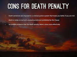 death penalty pros and cons essays co death penalty by dabomb