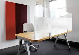 architects glass desktop by acousticpearls space dividers