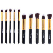 eyeshadow brush types. 10pc makeup brush tool set cosmetic eyeshadow face powder foundation lip brushes types w