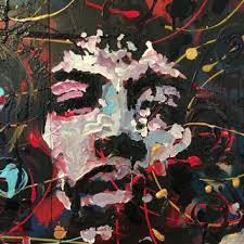 jimi hendrix art reclaimed wood art wall hanging wall decor wood wall art upcycled wood pallet on rock art wall hanging with robert smith pop art painting the cure from mattpecson on etsy
