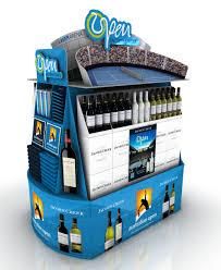 Cardboard Display Stands Australia Australian Open pallet display stand for Jacobs Creek Pernod 81