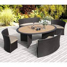 venice 5 piece patio dining set by