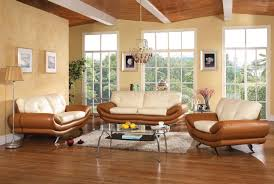 Tan Leather Living Room Set Bonded Leather Living Room Chicago U335 Tan Cream