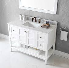 Virtu ES 30048 WMSQ WH Winterfell Single Bathroom Vanity Cabinet Set