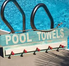 Swimming Pool Decor Signs Swimming Pool Decor Backyard Decor Outdoor Signs Pool Towel 2