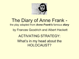 anne frank essay questions interesting research essay topics  anne frank essay the diary of anne frank by s goodrich and albert hackett c a ac
