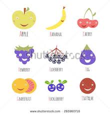 stock vector vector set of alphabet fruits and berries letters letter a b c d e g h i apple banana