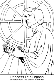 Small Picture star wars princess leia coloring pages princess leia organa