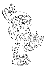 Native American Indian Coloring Pages For Kids Coloring Home