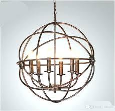 iron orb chandelier industrial orb chandelier lighting restoration hardware vintage pendant lamp iron orb chandelier rustic