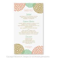 Menu Card Template Wedding Menu Card Template Download Instantly Edit