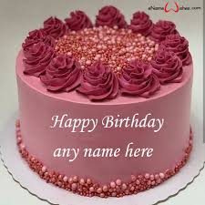 personalised birthday cake with name