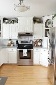 decorating ideas kitchen. Plain Decorating Kitchen Christmas Decorations White Kitchen Dressed In Frosted Greens For  A Festive Touch On Decorating Ideas