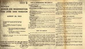 Pamphlet On Final Plans For The March On Washington For Jobs