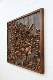 Vancouver cityscape wood wall art made of old by CarpenterCraig