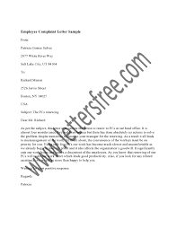 Employee Complaint Letter Creative Writing Exercises Writing