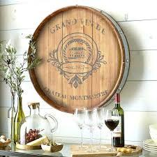 wine barrel wall decor enchanting wine barrel head wall decor embellishment wall art