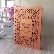 Invitation Card Design Handmade Us 26 66 14 Off 50pcs Hot Sale Handmade Menu Cards Laser Cut Flower Design Wedding Handmade Menu Card Invitation Card Party Table Decoration In