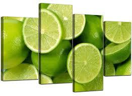 kitchen canvas wall art pictures lime green prints xl set prints 4113 5060327321139