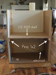 Microwave In Kitchen Cabinet Building A Custom Microwave Cabinet Simply Swider