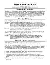 Professional Engineer Resume Sample Resume For A Midlevel Electrical