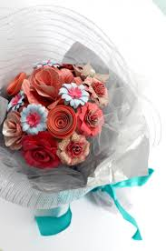 How To Wrap Flower Bouquet In Paper Handmade Paper Flower Bouquet In Gift Wrap Pink 2427543