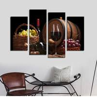 4pcs set unframed red wine and grapes hd print on canvas wall art picture for home and living room decor on wine canvas wall art uk with shop wine canvas art living room uk wine canvas art living room