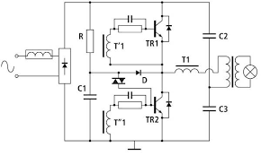 low voltage led lamps present unique driver challenge magazine typical self resonating half bridge circuit for elvts