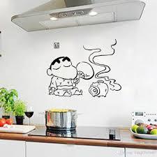 Kitchen Art Wall Decor Creative Cartoon Kitchen Art Mural Poster Decor Tile Cabinet