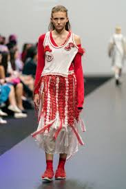 What Fashion Designer Made A Collection For H M Reconstructed And Up Cycled White And Red Sweater Dress Made