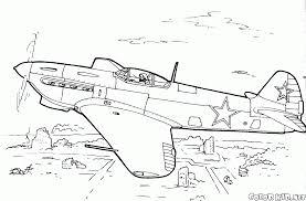 Coloriage Avions De Combat Yak 9r