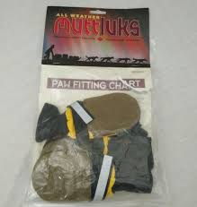 Muttluks All Weather Dog Boots Size Medium 4 Pack Yellow