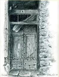 window pencil drawing. doors and windows window pencil drawing