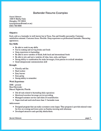 Bartender Resume Sample Examples For Position Experience Resumes