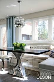 The challenge: create seating for groups within a small space. My solution:  banquette