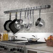 wall rack utensil bar w 12 hooks hammered steel wr5 hs the home depot