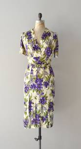 Celadon Berry & Floral Charleston Flapper Dress With Sleeves ...