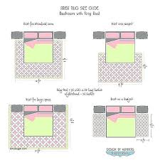 king size bed rug queen bedroom sizes area guide