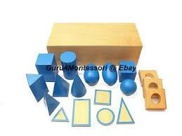 Geometric Cabinet Control Chart New Montessori Sensorial Material Geometric Cabinet