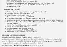 Entry Level Resume Samples For Highschool Students Luxury How To