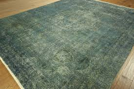 blue and green area rugs oriental overdyed persian hand knotted wool htm rug bright colored round grey teal yellow black white navy solid striped