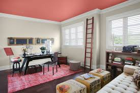 office colors ideas. Office:Graceful Home Office Interior Ideas Using Black Wooden Table And Cream Tufted Sofa Colors N