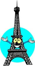 Image result for eiffel tower cartoon in french