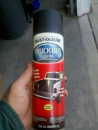 What sort of bed liner spray paint do you use on plastics