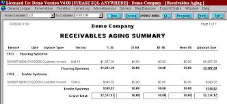 Account Receivable Aging Report Glbamain