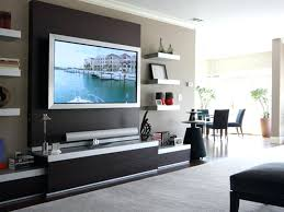 tv wall cabinet flat screen mounted with doors two way mirror diy