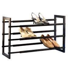 rack. walnut 3tier grippy shoe rack a