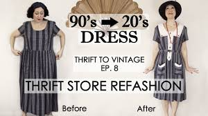 1920 s style vintage dress thrift refashion diy vintage dress thrift to vintage ep8