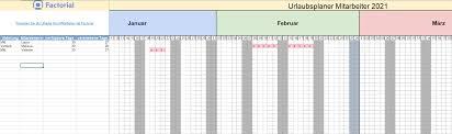 Eine vorlage zur erstellung eines urlaubsplans für mehrere mitarbeiter oder personen. Kostenloser Urlaubsplaner Fur Mitarbeiter 2021 In Excel