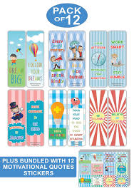 Creanoso Educational Motivational Quotes Bookmarks And Stickers Bundle